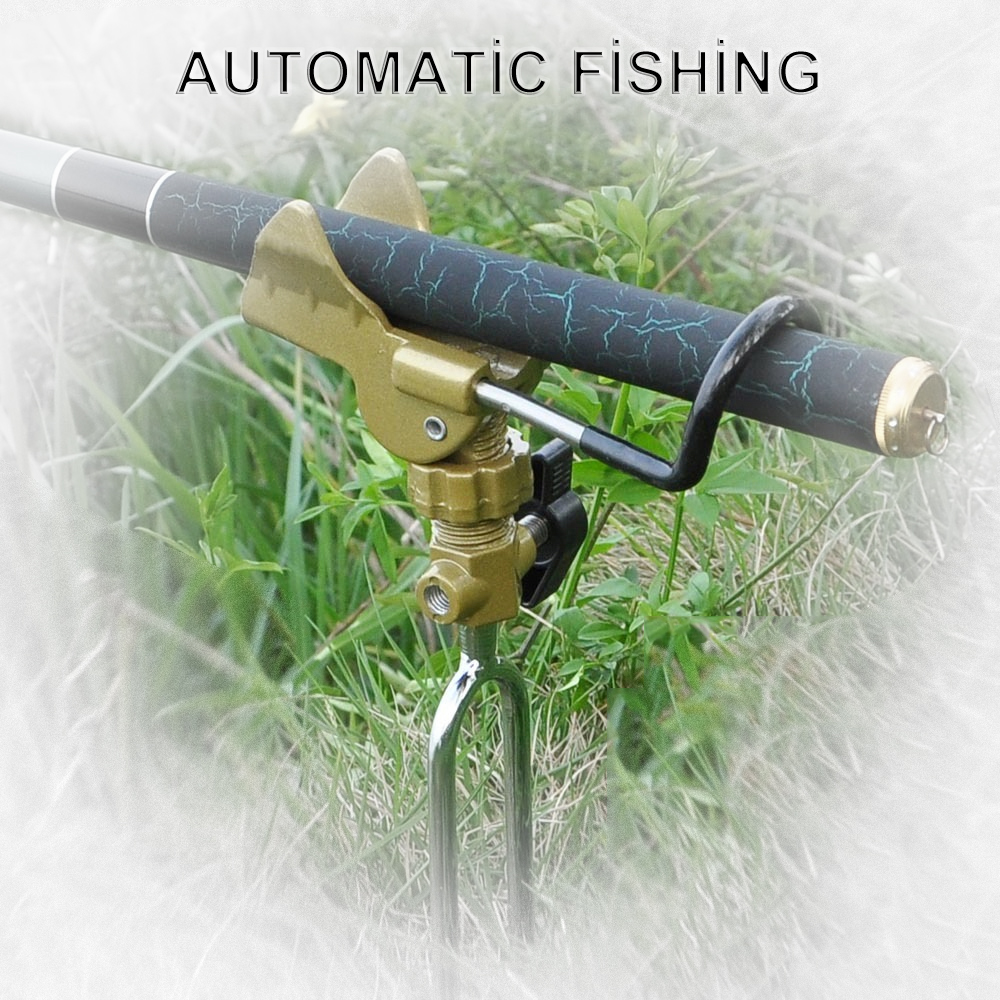 Automatic fishing rod mount spring angle adjustable for Automatic fishing pole