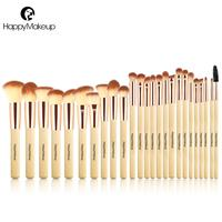Happy Makeup Brushes Set Professional 25 Pcs Face Foundation Powder Blush Eye Cosmetic Brush Kit Synthetic