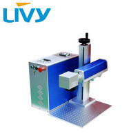 20 watts LIVY brand fiber laser marking machine for metal material surface engraving and marking