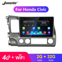 Jansite 10.1 4G Wifi Car Radio For Honda civic 2005 2011 Touch screen 2G+32G Android 8.0 radio coche players NO DVD with frame