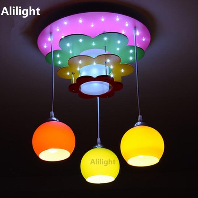 US $197.99 |Moderne kinder Schlafzimmer Lampen Kinderzimmer Led  Pendelleuchten Umweltfreundlich Glas Ball E27 Hängelampe Decor Leuchten in  Moderne ...