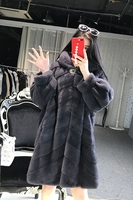 YOLANFAIRY Real Fur Coat Women Winter Mink Fur Coats Thick Plus Size Jacket Top Quality Hooded Warm Outwear casaco inverno MF335