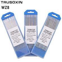 10pcs gray color code 2.4 * 150 Cerium tungsten electrode head tungsten needle/rod for the welding machine with TIG function cnbtr 10pcs wt20 gray tig welding tungsten electrode 2% ceriated replace 1 6 x 150mm