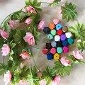 100 UNIDS/LOTE 20mm DIY Cuentas De Madera Granos de Madera Geométricas de Color Del Arco Iris Para El Collar, cumpleaños Regalos Caseros de la Decoración de Primavera