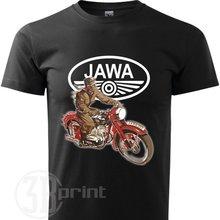 Mens รถจักรยานยนต์ Retro เสื้อยืด Jawa เสื้อยืดผู้ชาย 2019 ใหม่ล่าสุดฝ้ายแขนสั้น 3D พิมพ์เสื้อยืด