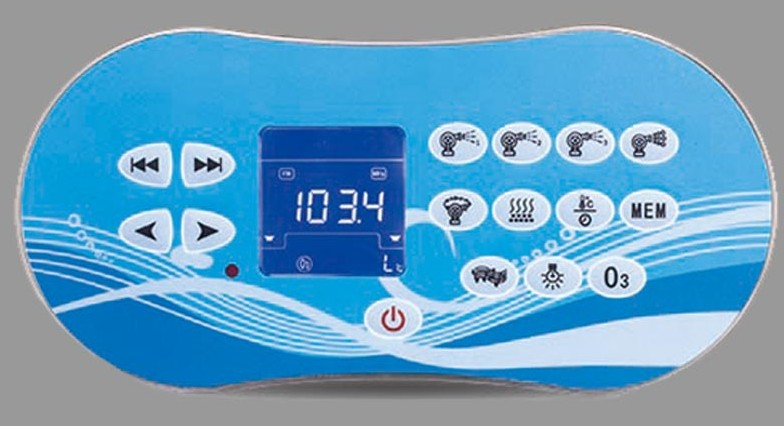 hot tub swim spa topside keypad display panel- Bluehot tub swim spa topside keypad display panel- Blue