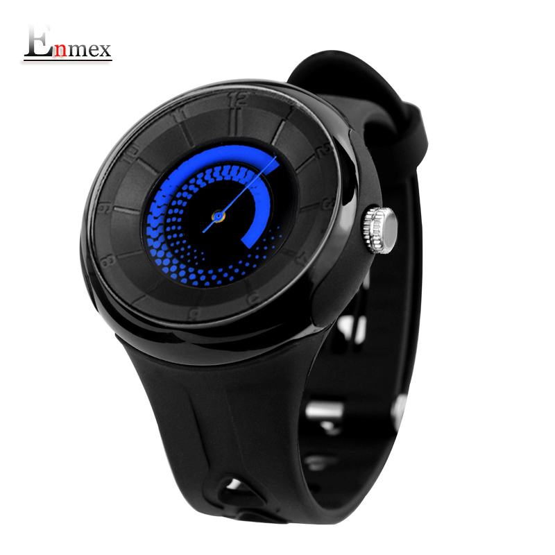 2017 men's gift Enmex men creative fire pattern wristwatch waterproof design light sports cool 3d scale fashion quartz watches 2017 men s gift enmex unique design leather creative dial changing patterns simple fashion for young peoples quartz watches