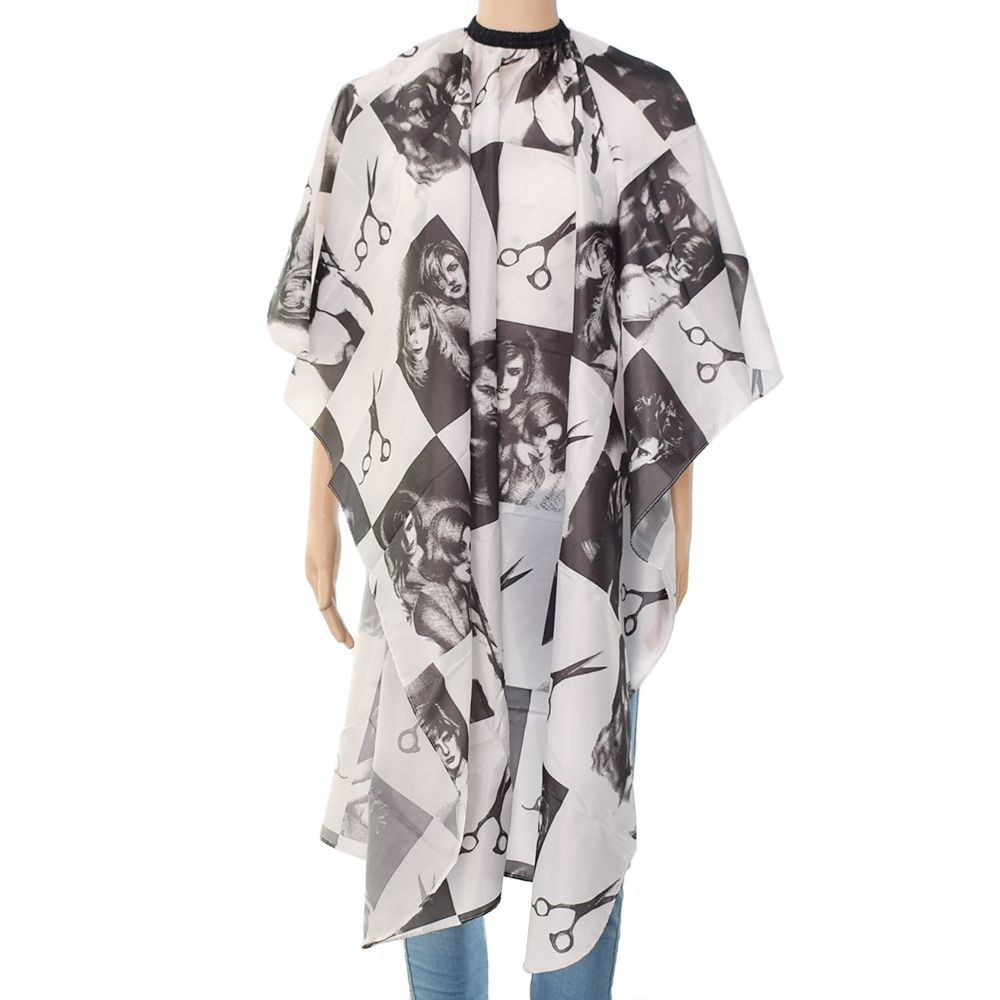 Caps, Foils & Wraps Hair Care & Styling New Professional Cutting Hair Hairdressing Sketch Printed Waterproof Salon Barber Gown Cape Hairdressing Apron Haircut Capes Hot