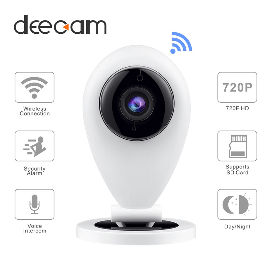 Deecam HD Mini 720p Wifi IP Camera Wireless Smart P2P Security System IR CUT Baby Monitor Home Protection Mobile Remote Cam