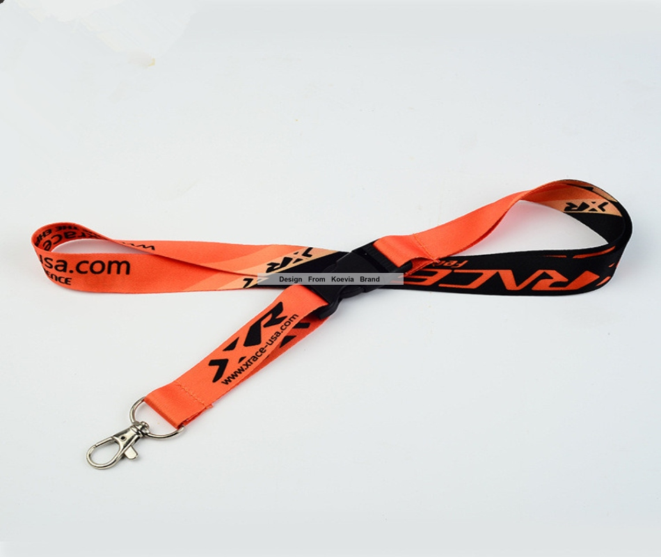 Wholesale custom breakaway buckle lanyards sublimation polyester logo printing Lanyard for Keys ID Holders Mobile Phone
