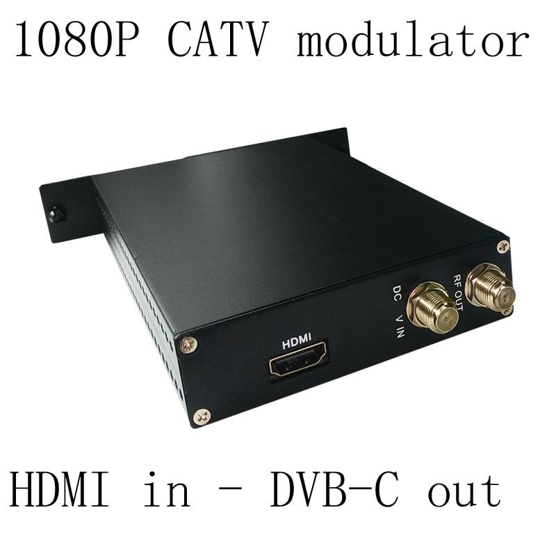 1080P AV HDMI to DVB-C encoder modulator Digital TV Headend QAM RF Modulator dvb-C digital modulator 1pcs lot factory price new high quality tv system av rf audio video converter av to rf modulator for russian market