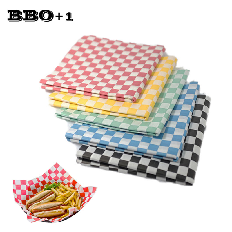 Bakeware Shop For Cheap 4packs*24pcs Red Checkered Wax Printed Food Wrapping Paper Deli Wax Paper Candy Package Paper Bread Hot Dog Baking Accessories Suitable For Men And Women Of All Ages In All Seasons Home & Garden
