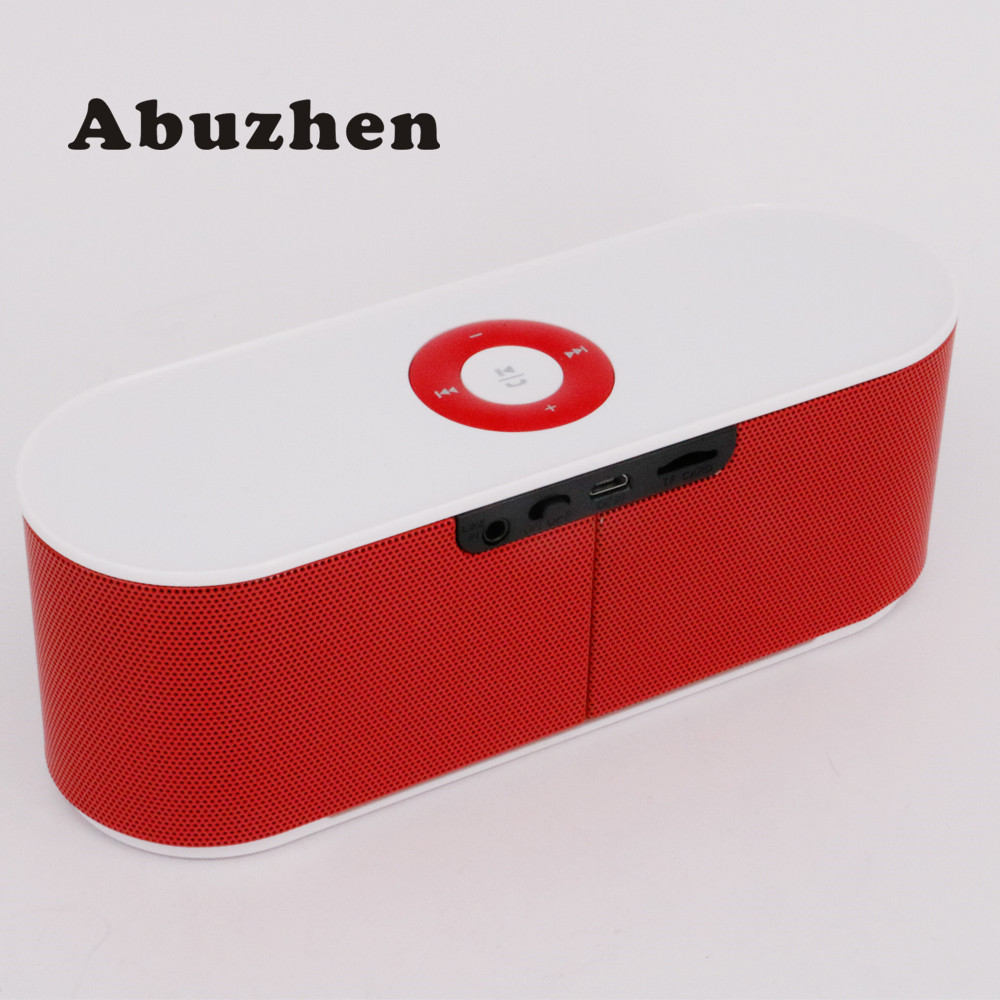 Abuzhen Portable Wireless Bluetooth Speaker caixade som Hifi Bluetooth Receiver Support TF FM Handsfree for Phone Samsung Xiaomi itek portable rectangle wireless bluetooth hifi speaker stereo subwoofer loudspeaker speakers support handsfree fm radio tf card