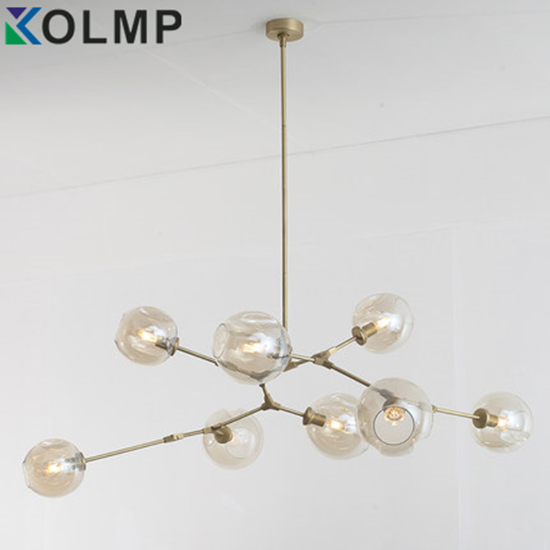 3 5 7 8 9 11 heads Glass ball branching Drop Hanging font b Light b