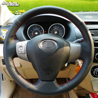 Shining Wheat Hand Stitched Black Leather Car Steering Wheel Cover For Great Wall Haval Hover M1