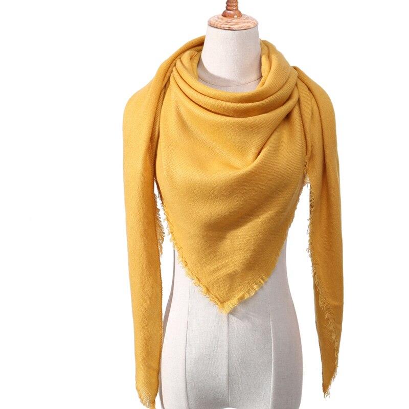 Бандана палантин платок на шею шарф зимний Дизайнер трикотажные весна-зима женщины шарф плед теплые кашемировые шарфы платки люксовый бренд шеи бандана пашмина леди обернуть - Цвет: c19