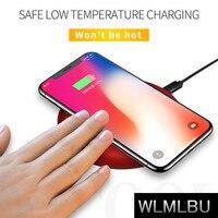Fast Original Qi Wireless Charger For IPhone X 8 8plus Slim Fast 10W USB Wireless Charging