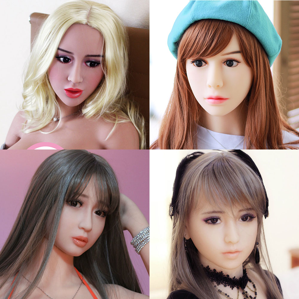 Hanidoll Sex Dolls Head for doll Height 140cm~170cm Real silicone Love Doll Heads With oral sex For Men sex dolt heads цена