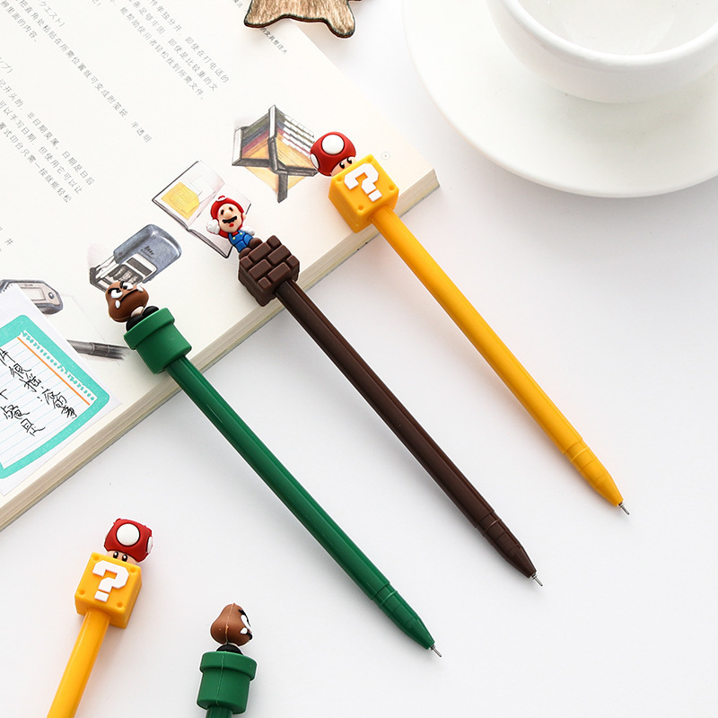1PCS New Cute Super Marie Gel Pen Student Stationery Novelty Gift School Material Office Supplies ...