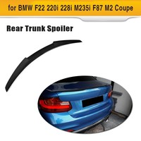 Carbon Fiber Car Rear Trunk Spoiler Wing Lip for BMW F22 220i 228i M235i F87 M2 Coupe 2014 2015 2016