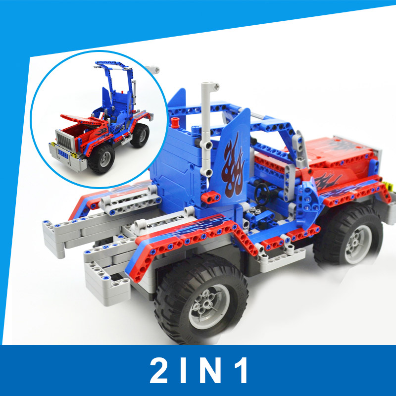 Optimus Prime RC Building Blocks Car Toys for Children DIY Remote Control Building Block Car Splicing Block Toy for Kids цена и фото