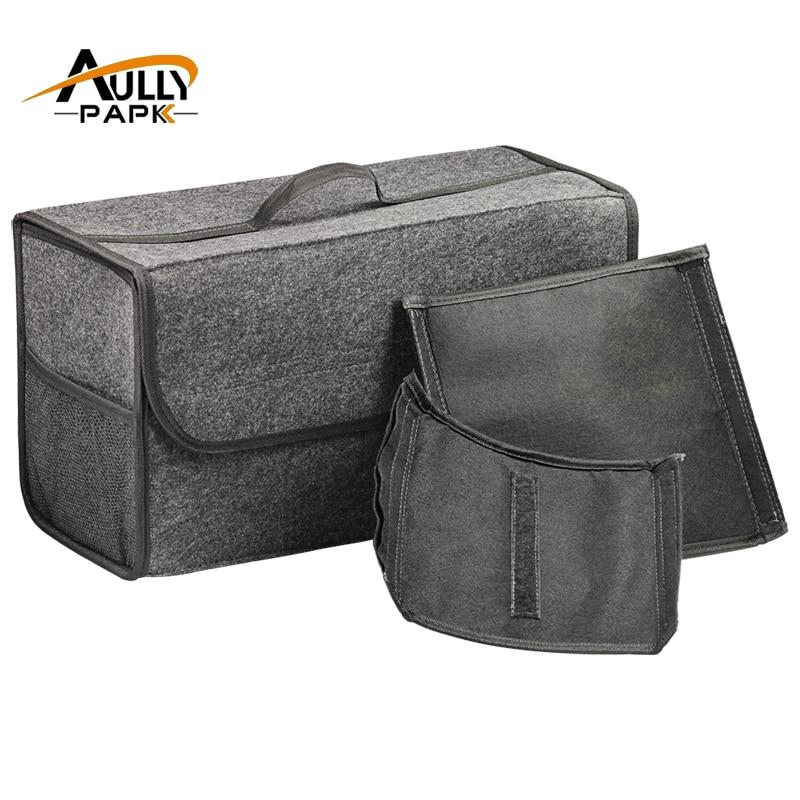 Car <font><b>Seat</b></font> Back Rear Storage Organizer Holder Interior Bag Felt Storage Box Trunk Bag Multi-use Tools Organizer Carpet Folding Bag