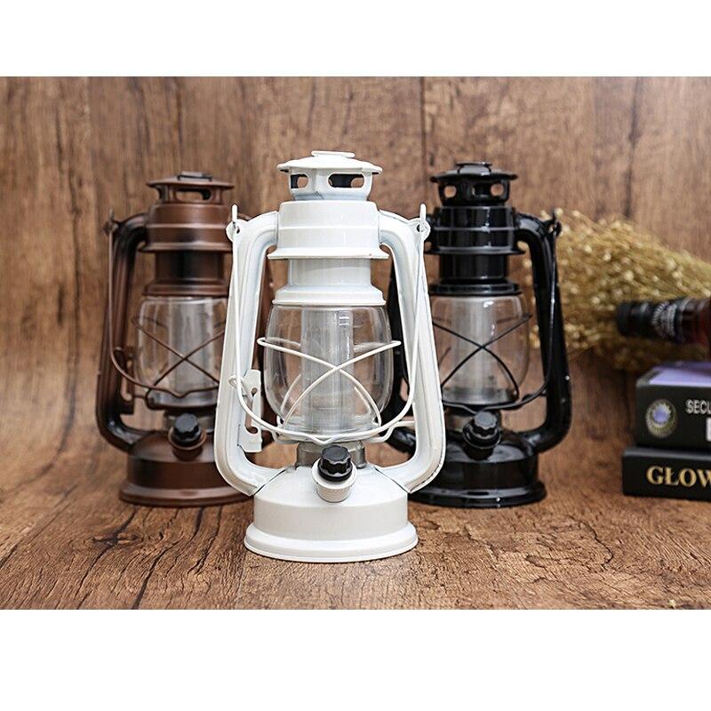 2019 Retro Oil Lamp Tent Camping LED Light Vintage Style Kerosene Lamp Beside Light For Bar Coffee Shop Led Lights Battery Light