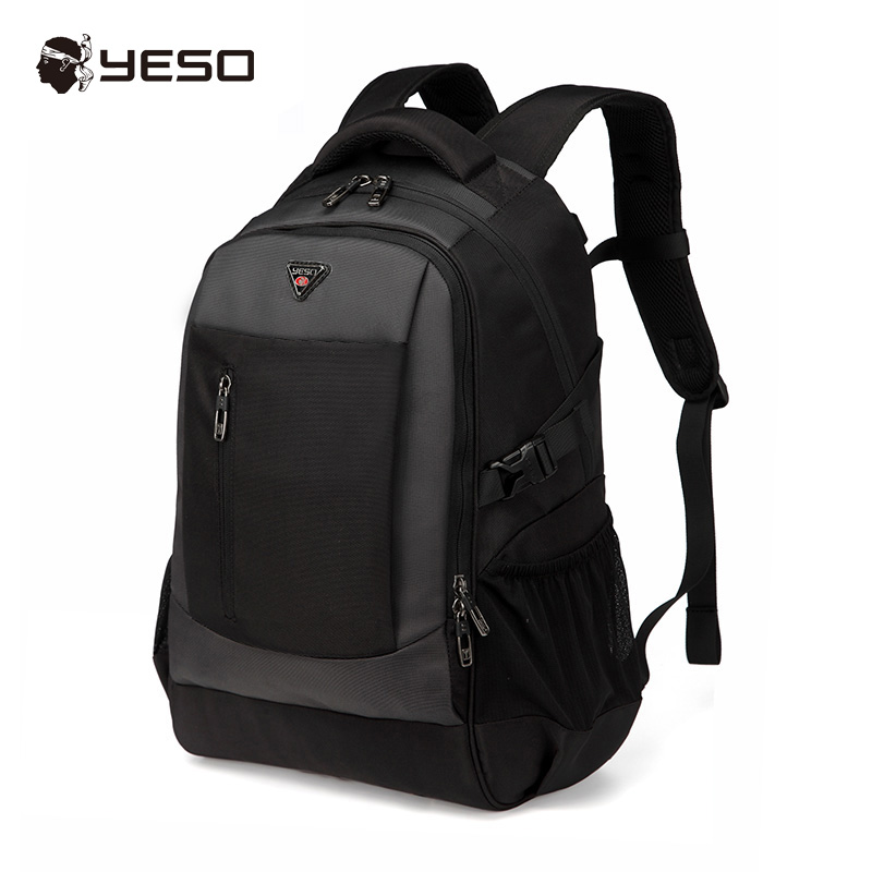 Yeso New Large Capacity Black Laptop Backpack Men Multifunction Waterproof Computer Backpack Business Casual Backpack Women