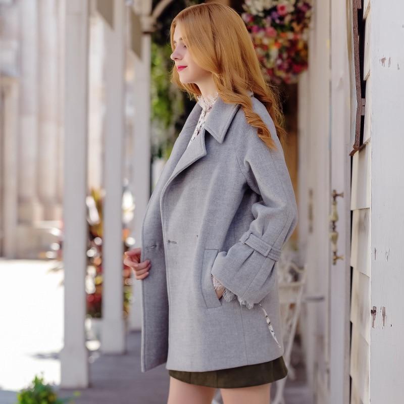 Femmes Manteau Longues 2016 Collar Automne Slim Ol Style Couleur Trench Manteaux Hiver Nouveau Manches Bref down Turn Solide ArwnAO