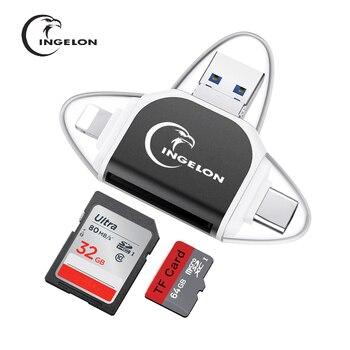 Ingelon adaptateur carte sd usb micro SD card usb typec otg Card reader no3.0 USB micro usb for lightning adapter pc accessories