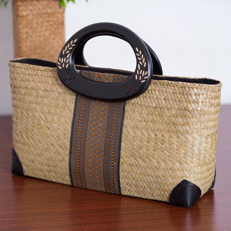 Handmade National Style Straw Bags for Lady 2017 Luxury Top Handle Bag Tote Vintage Woven Beach Bag Travel Women's Handbags handmade flower appliques straw woven bulk bags trendy summer styles beach travel tote bags women beatiful handbags