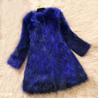 New Winter Coat Women Real Fur Coat Raccoon Dog Fur Jacket Double faced Fur Coats Casual Women Tops Abrigo Mujer Z602