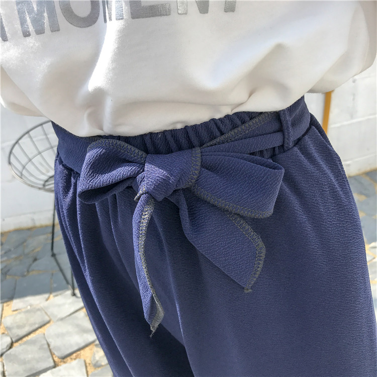 19 Women Casual Loose Wide Leg Pant Womens Elegant Fashion Preppy Style Trousers Female Pure Color Females New Palazzo Pants 56