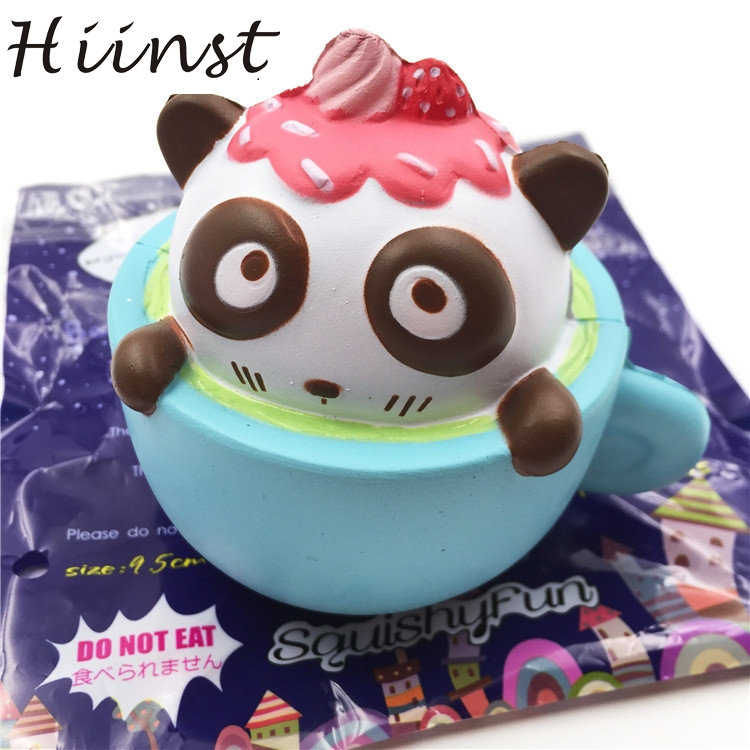 HIINST funny toys 2017 Cute Cup Cat squeeze squishy slow rising Toy Relieve Fun Decor Gift *R Drop