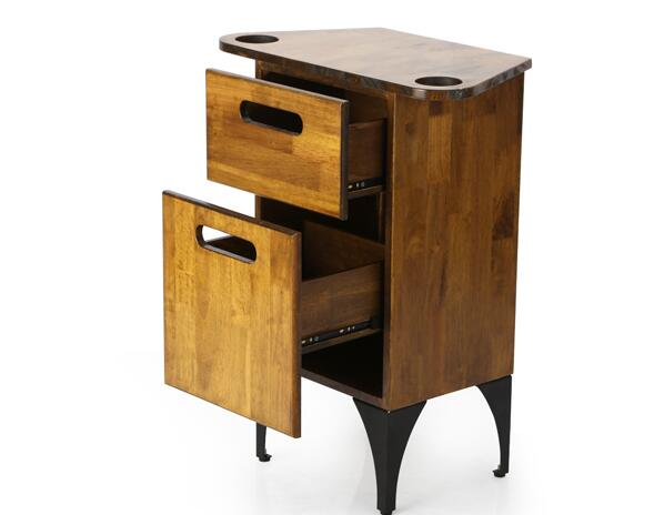 New Style Retro Hair Tools Cabinet Mirror Side Cabinet Hair Salon Tools Car Cabinet Studio Hair Cabinet.