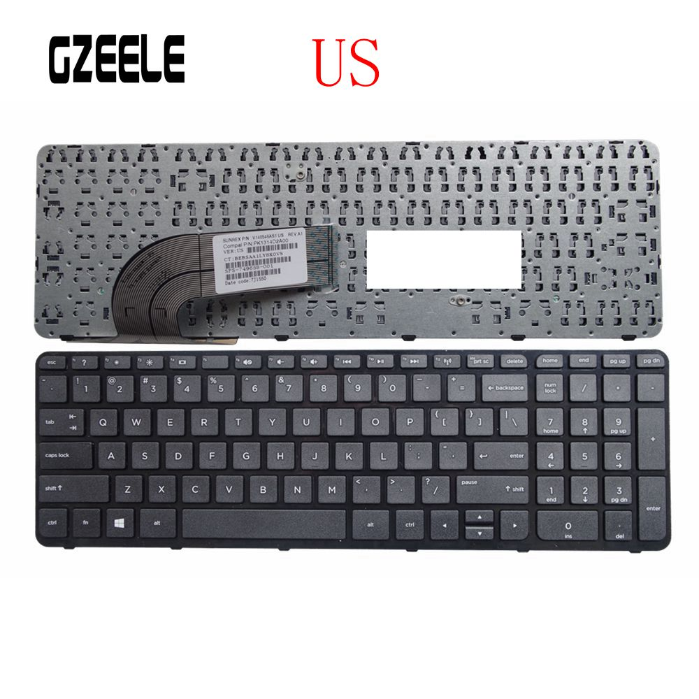 US New Laptop Keyboard FOR HP 15-g000 15-r000 15-g 15-r 250 G3 255 G3 256 G3 15-r007nc 15-r008nc 15-r009nc 15-r010nc With Frame