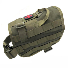 Military Dog Vest Tactical Harness 1000D Nylon Molle Service Training Combat Hunting Clothes