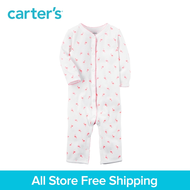 Carter's 1pcs baby children kids Cotton Snap-Up Footless Sleep & Play 115G295,sold by Carter's China official store carter s 1 pcs baby children kids long sleeve embroidered lace tee 253g688 sold by carter s china official store