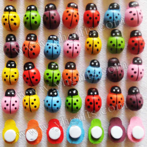 500PCS/LOT,7 Color ladybug stickers,Kids toys,scrapbooking kit,Early educational DIY.Kindergarten crafts.Classic toys.Wholesale