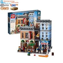 Lepin 15011 Pariser Creator Expert Stadtstrae Restaurant Minifigur Avengers Sets Montieren Bausteine Geburtstag Spielzeug