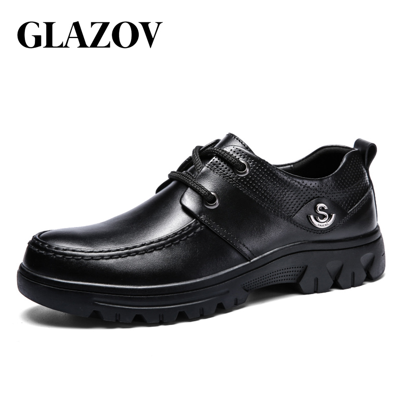 GLAZOV Big Size 38-49 Mens Dress Italian Leather Shoes Luxury Brand Mens Loafers Genuine Leather Formal Loafers Moccasins Men summer breathable moccasins mens driving shoes italian luxury brand men loafers 2017 genuine leather casual shoes big size to 46