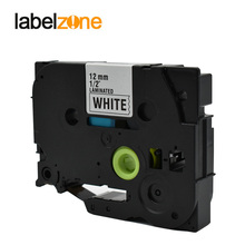 LABELZONE Laminated Tze231 Label Tapes Compatible Brother Black on White Tz231 Tze-231 tze tape for brother P-touch label maker