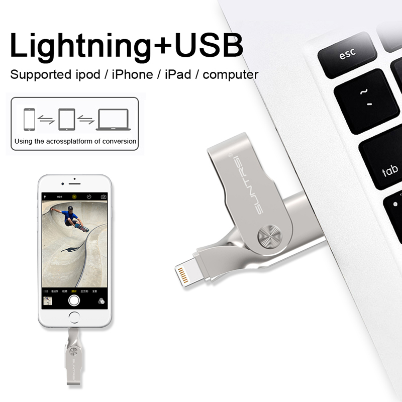 jump drive for iphone suntrsi usb flash drive 32gb for iphone 7 7 plus 6s 6 5591