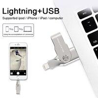 Suntrsi USBแฟลชไดรฟ์32กิกะไบต์สำหรับiphone 7 7บวก6วินาที6 6บวก5ปากกาไดรฟ์USBติด64กิกะไบต์128กิกะไบต์โลหะPendriveสำ...