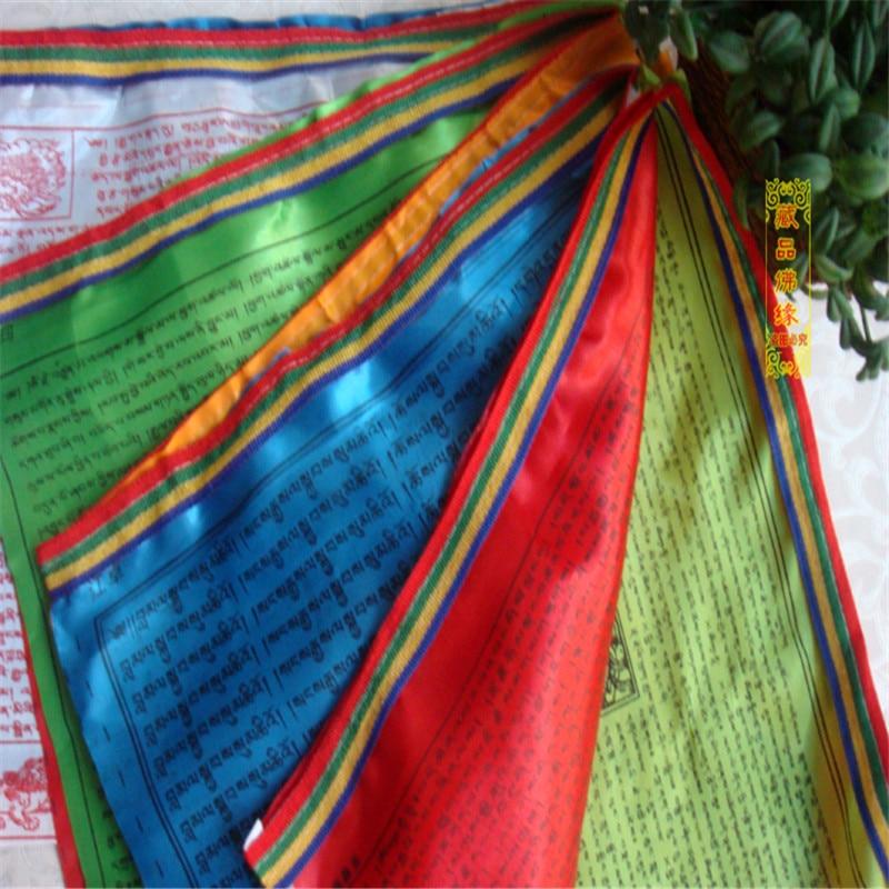 Tibetansk buddhistisk bönflagga Silkfärgtryck 3,5 meter 10 st / - Heminredning - Foto 2
