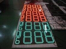 10 или 12 дюймов 8.88 9/10 напольный цена дисплей станции нефть, led цена на газ цифровой светодиодный вывески