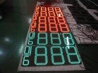 10 veya 12 inç 8.88 9/10 Açık LED fiyat petrol istasyonu ekran, led gaz fiyat dijital led işaret panoları