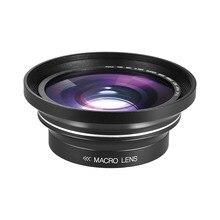 30 มม.37 มม.0.39X เลนส์ Full HD มุมกว้างเลนส์มาโครสำหรับ Ordro Andoer กล้องวิดีโอดิจิตอล