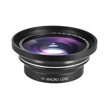 30mm 37mm 0.39X Lens Full HD geniş açı makro Lens için Ordro Andoer dijital Video kamera kamera
