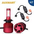 Auxmart Kit Solo Haz H7 Coche LLEVÓ La Linterna Del Coche LED Bombilla Auto Cabeza de La Lámpara Luz de Niebla Ventilador Coolling Sistema Canbu Error H7 Envío